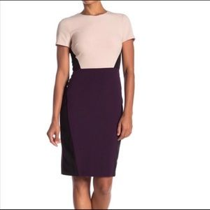 NWT Vince Camuto Womens Colorblock Sheath Dress